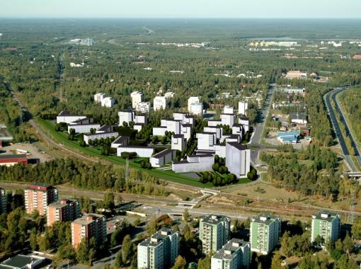 Alppila Kortteli 57 (Rajavillen alue), maankäyttösuunnitelma